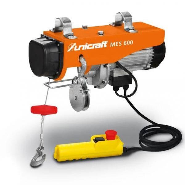 Wciągarka elektryczna linowa Unicraft MES 600