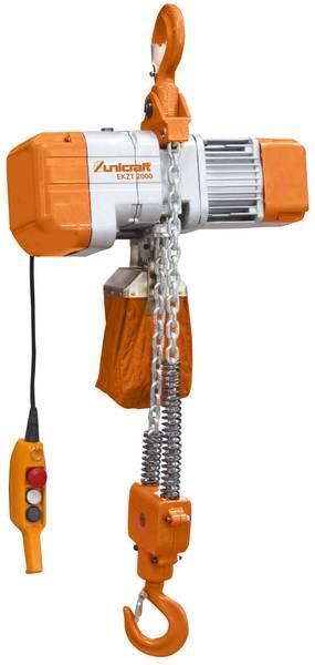 Elektryczna wyciągarka wciągarka łańcuchowa hakowa 1 T Unicraft EKZT 1000