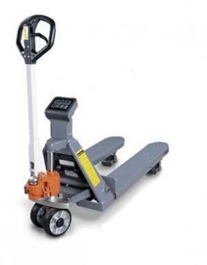Wózek paletowy widłowy (paleciak) UNICRAFT PHW 2002W z wbudowaną wagą elektroniczną.