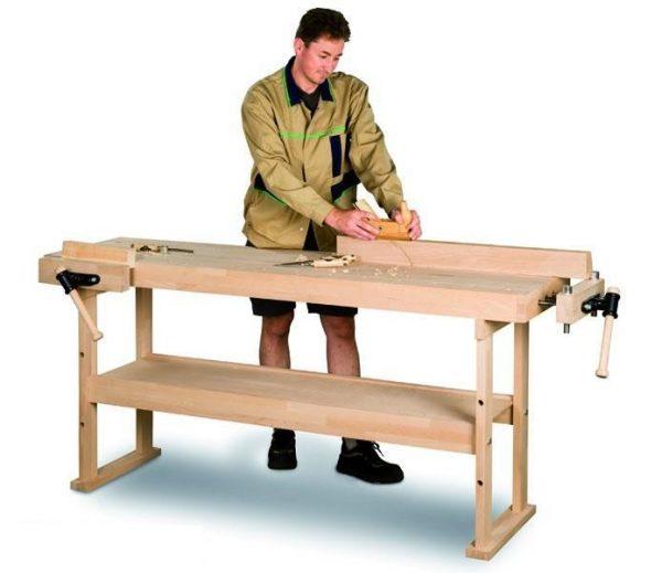 Stół warsztatowy stolarski drewniany HOLZKRAFT HB 1401