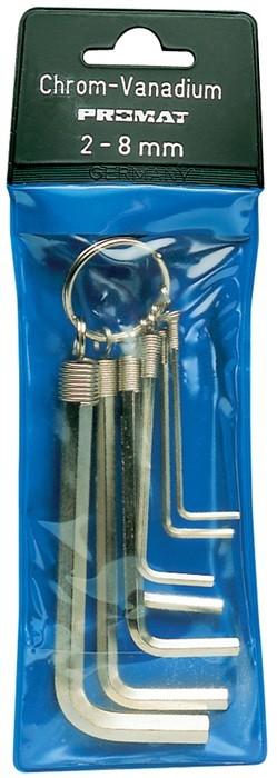 Zestaw kluczy imbusowych sześciokątnych 2-8 PROMAT