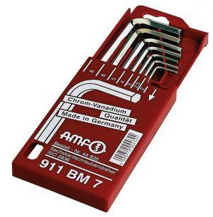 Zestaw kluczy imbusowych sześciokątnych 2-8 AMF