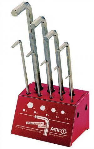 Zestaw kluczy imbusowych sześciokatnych długich 2,5-14 AMF