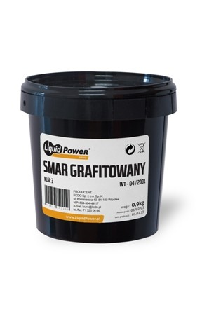 Smar grafitowany wiadro 9 kg Liquid Power