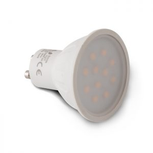Żarówka LED GU10 11 LED SMD 2835 2W 230 V biała ciepła
