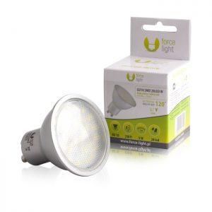 Żarówka LED GU10 24 LED SMD 2835 4 W 230 V biała ciepła z przetwornicą RC