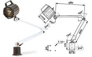 Lampy halogenowe i LED do maszyn