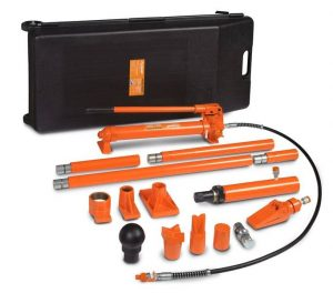 Zestaw przyrządów rozpieraków hydraulicznych do naprawy karoserii UNICRAFT HKRS 1000 10T