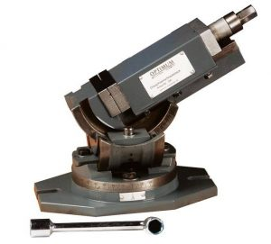 Imadło kątowe kołyskowe uchylne obrotowe do wiertarki frezarki OPTIMUM OPTI MV3-125