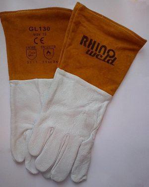 Profesjonalne rękawice spawalnicze RHINOWELD TIG Kozia Skóra