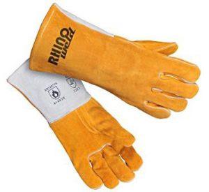 Rękawice spawalnicze RHINOWELD MIG GL122 wzmacniane z nicią kevlarową i pełną wyściółką bawełnianą r.10