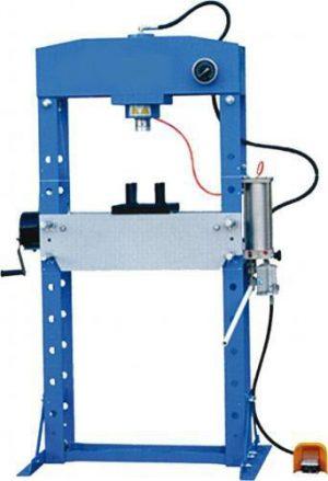 Prasa pneumatyczno hydrauliczna warsztatowa PROMA HLR - 50U/2A 50T