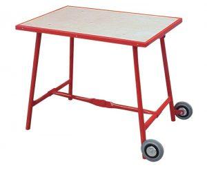 Stół montażowy 1000x700x840mm drewno buk-multiplex 30mm z kółkami