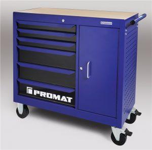 Stół warsztatowy wózek na kółkach PROMAT 6 szuflad x 25 kg nośność 400 kg